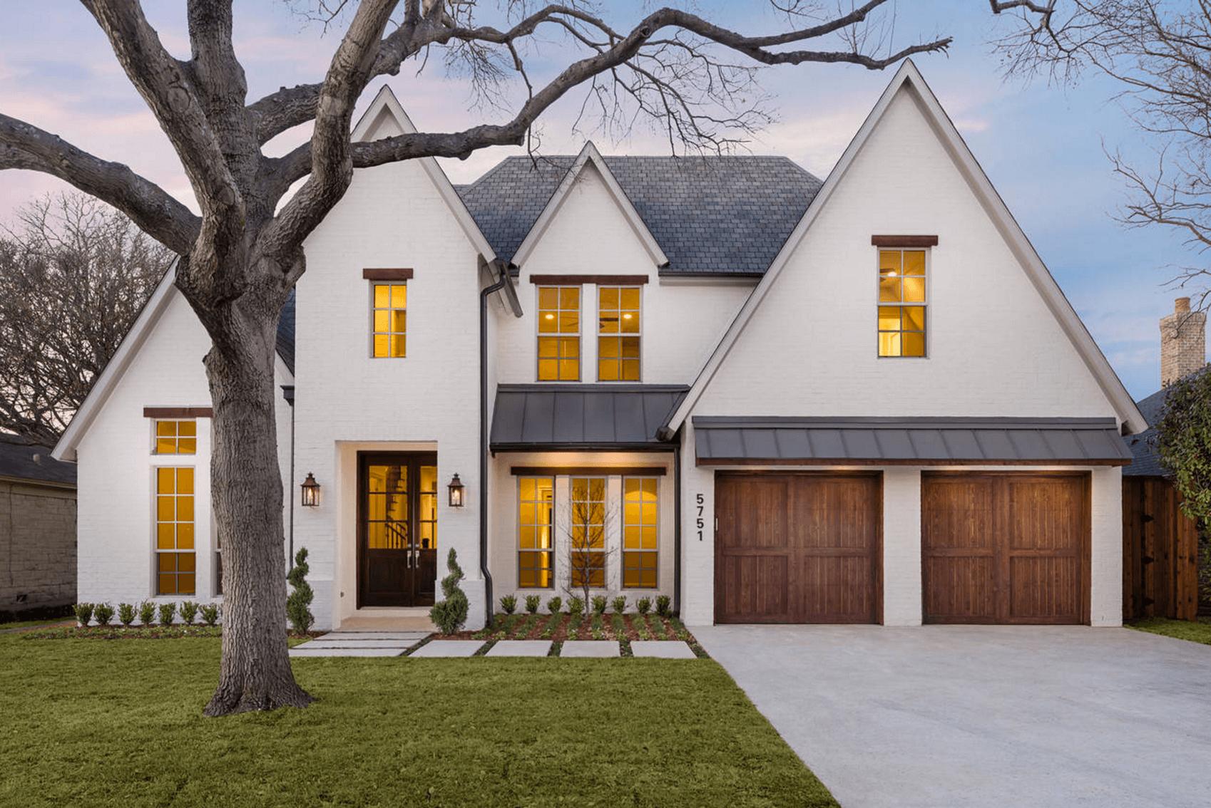Wit huis met strak design
