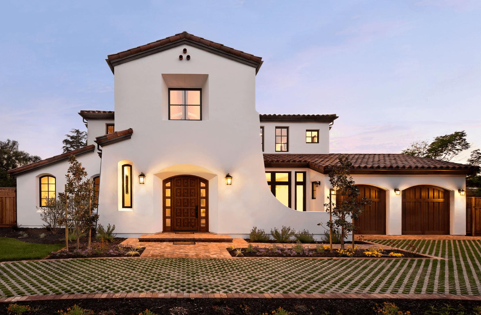 Een villa in Spaanse look